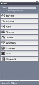 App Studio HTML5 Palette