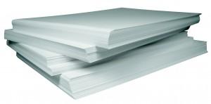 Papierstapel, Papier, weiß
