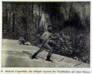 Richard Ungewitter, der eifrigste Apostel der Nacktkultur auf einer Skitour