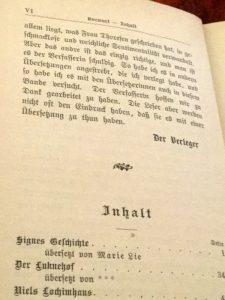 Erzählungen von Magdalene Thoresen: Signes Geschichte u.a., Vorwort