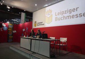 Lesung von Linde Hagerup und Gabriele Haefs auf der Leipziger Buchmesse 2020 anlässlich der Nominierung von Linde für den Deutschen Jugendliteraturpreis